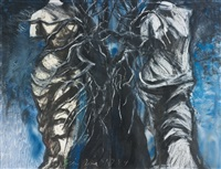 two venuses with a tree (in 2 parts) by jim dine
