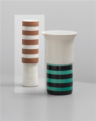 vase, model no. 176 (from the ceramiche series) by ettore sottsass