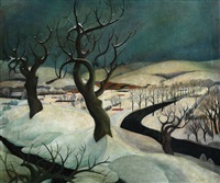winterlandschaft by willy reindl