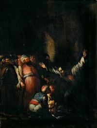 almanzor muestra las cabezas de los siete infantes de lara a su padre gonzalo gustioz by josé maria rodríguez de losada