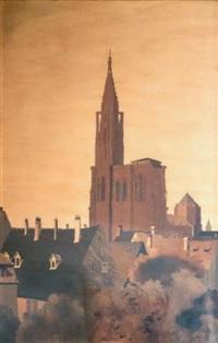 cathédrale de strasbourg by charles spindler