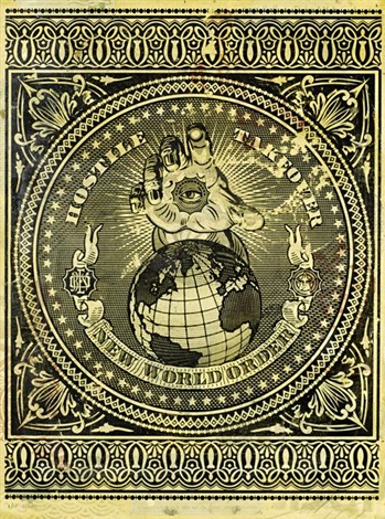 hostile takeover new world order by shepard fairey