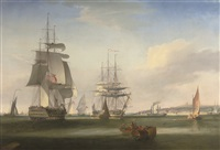shipping in the thames off gravesend by william john huggins