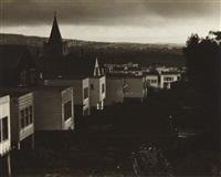 untitled (san francisco scene with church steeple) by johan hagemeyer