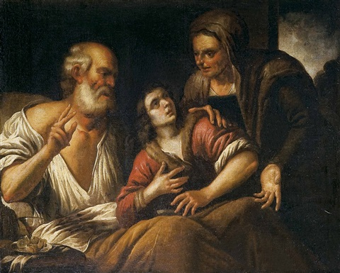 bendición de jacob by gioacchino assereto