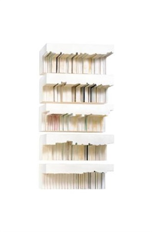 untitled bookshelves by rachel whiteread