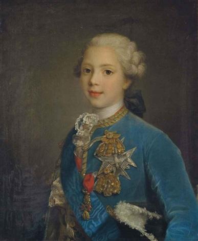 portrait de louis stanislas xavier de bourbon comte de provence enfant  by louis tocqué