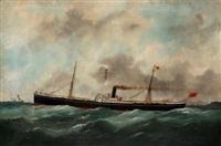 le navire imaum près des côtes by marie-edouard adam