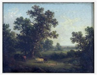 untitled (landscape with cows and distant pond) by john william casilear