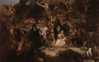 highgate fields during the great fire of london 1666 by edward matthew ward
