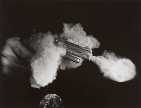 antique gun firing by harold eugene edgerton