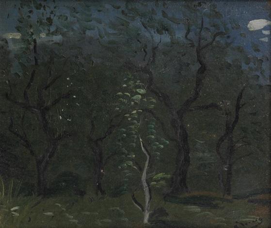 les oliviers fond du jardin en provence by andré derain