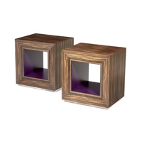 a pair of lamp tables by david linley