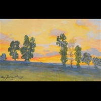 approaching evening, edge of clear creek valley by charles partridge adams