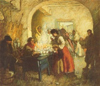 the blue coffee stand by augustus koopman