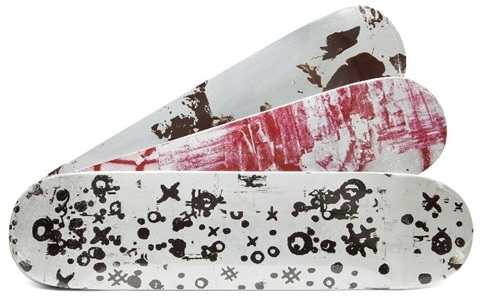 supreme skate decks set of 3 by christopher wool