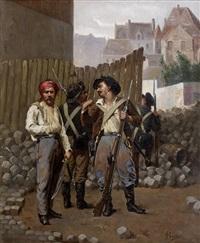 aux barricades by ferdinand bassot