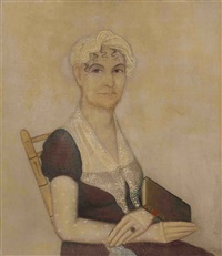portrait of mrs. charles d'emery by ammi phillips