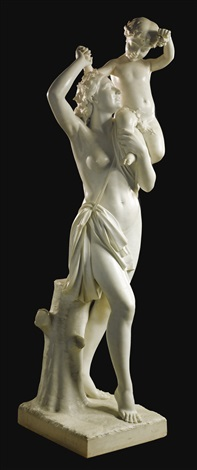 bacchante and the young bacchus by antonio frilli