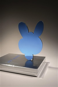 kangaroo mirror box (blue) by jeff koons