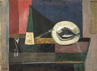 still life with fish by avraham naton