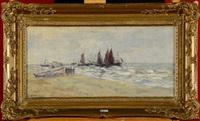 le départ pour la pêche by louis artan de saint-martin