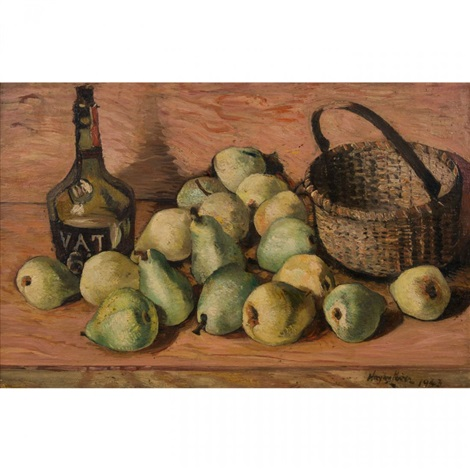 pears still life by hayley lever