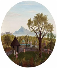 salzburg vom kapuzinerberg by regine dapra