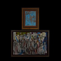two works: juggler & bazaar by pascal cucaro
