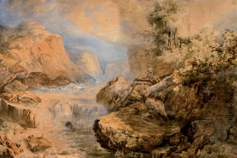 paisaje by genaro perez villaamil