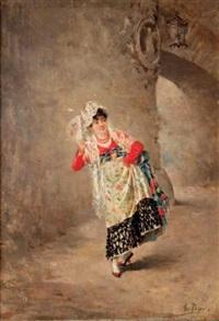 espagnole à l'éventail by urrea juan peyro