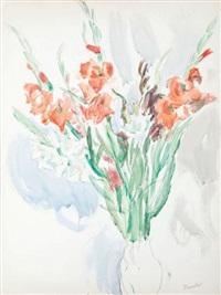 gladiole w wazonie by waclaw zawadowski