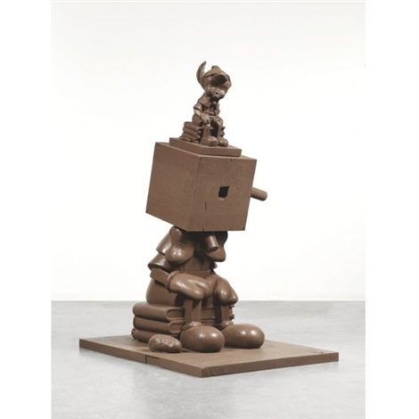 chocolate silicone blockhead by paul mccarthy