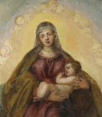 the madonna and child by jacopo robusti tintoretto