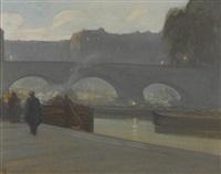 pont neuf, paris by xavier martinez