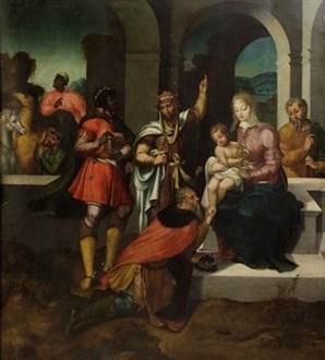 adoracion de los reyes magos by flemish school 16