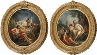 diane et adonis; vénus au bain (pair) by pierre-charles le mettay