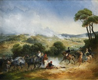 scène de la guerre d'espagne by jean-charles (col.) langlois