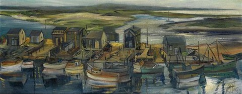 fishing smacks menemsha massachusetts by lois mailou jones