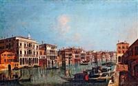 velencei látkép a canale grandeval a peschierinél by francesco albotto