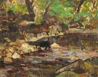 creek in the forest by samuel mützner