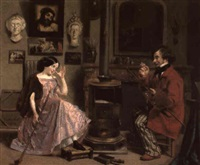 l'atelier du peintre by laurent jules marlet