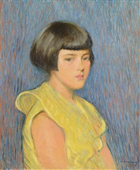 girl in yellow by casimir (count) markievicz