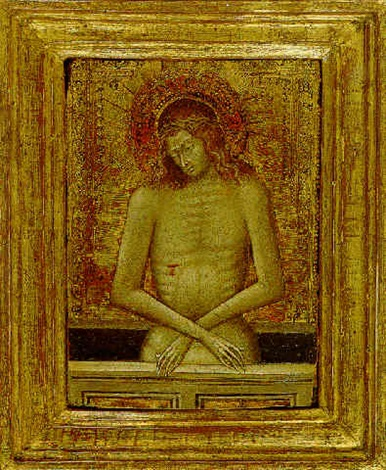 christ as the man of sorrows by giovanni di paolo