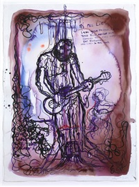 untitled (it's all lies...) by bjarne melgaard