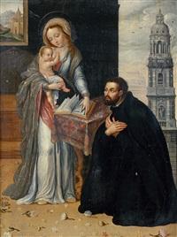 vierge à l'enfant et saint ignace de loyola by antwerp school