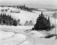 snow scene by john nichols haapanen