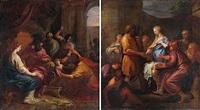 moïse foulant aux pieds la couronne du pharaon (+ le mariage de la vierge; pair) by pierre-jacques cazes