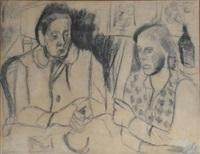 deux femmes à table by andré lanskoy