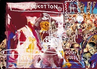 origin of cotton by jean-michel basquiat, francesco clemente and andy warhol